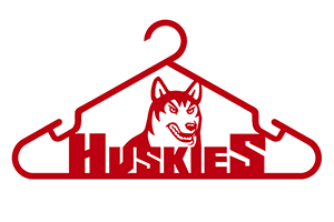 hung by Northeastern Huskies